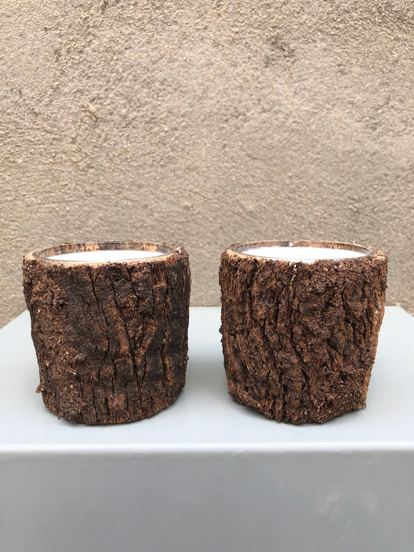 Bark Votive Candle