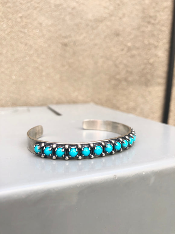 Tiny Turquoise Row Cuff