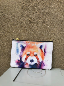 Red Panda Splash Small Pouch