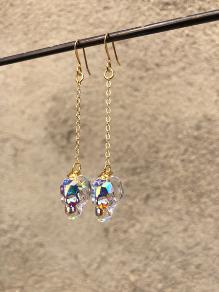 Crystal Skull Dangles