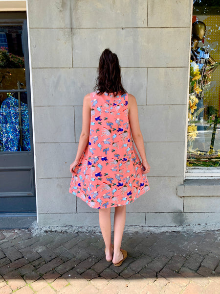 Peachy Bold Bird Dress