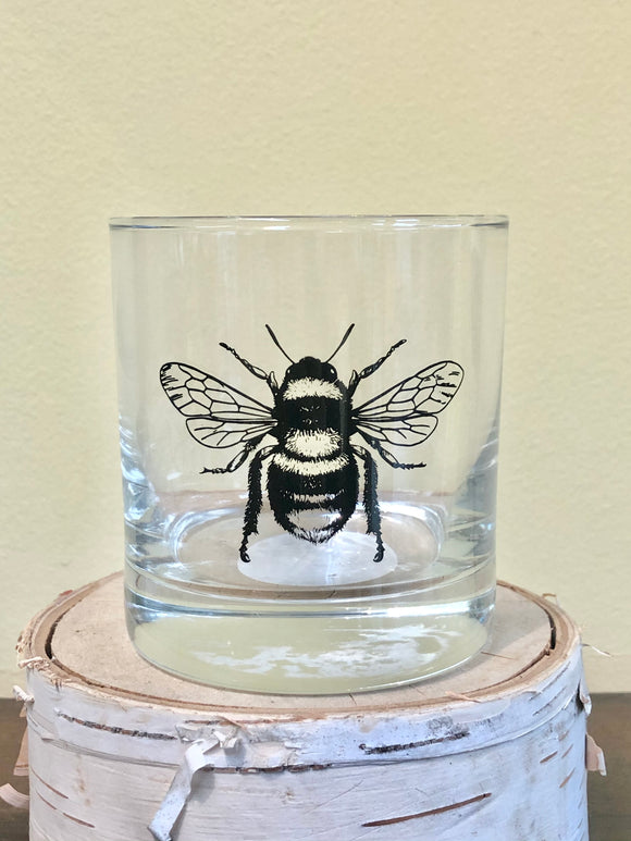 Bee Rocks Glass