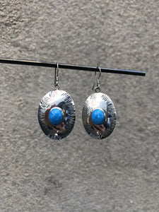 Stone Shield Earrings