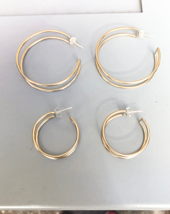 Circle Cage Hoops (multiple options)