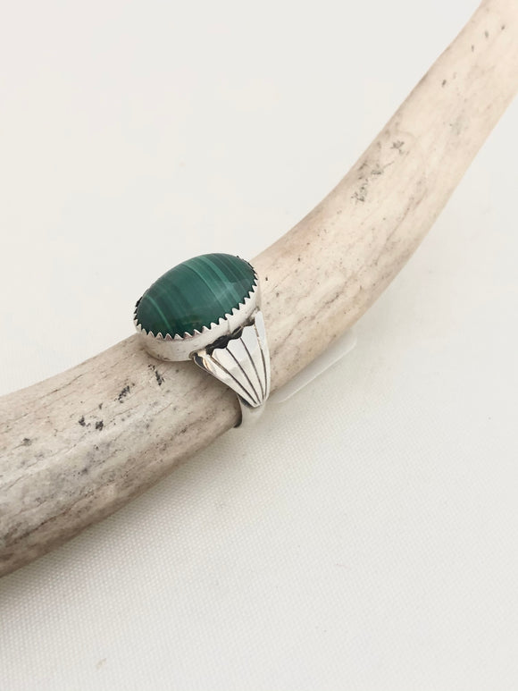 Malachite Wings Ring