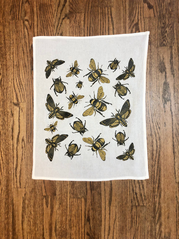 Insect Flour Sack Tea Towel