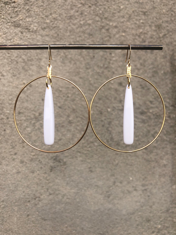 White Acrylic Hoops