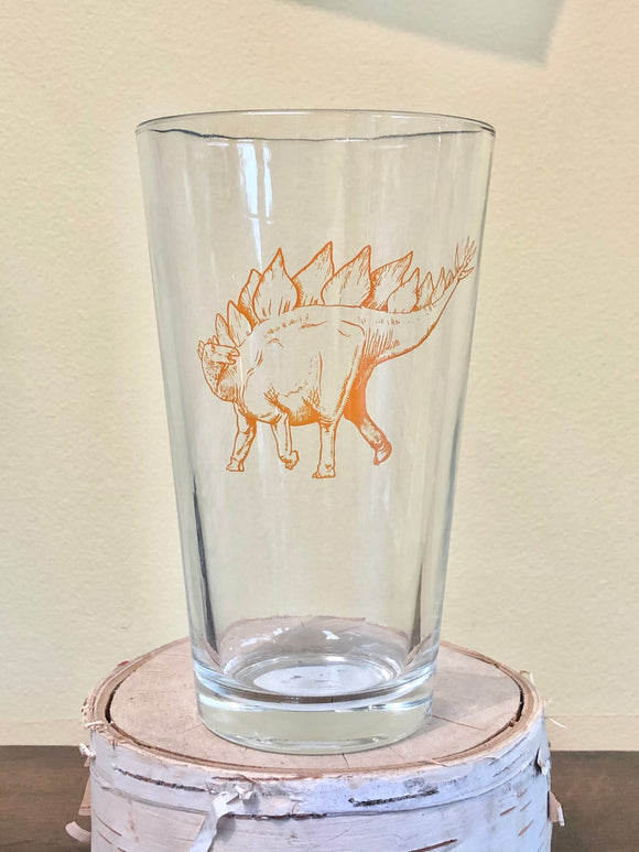 Stegosaurus Pint Glass
