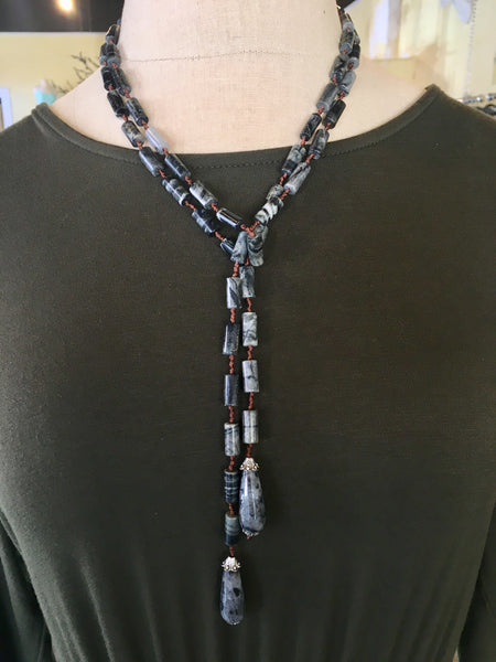 Granite Lariat Necklace