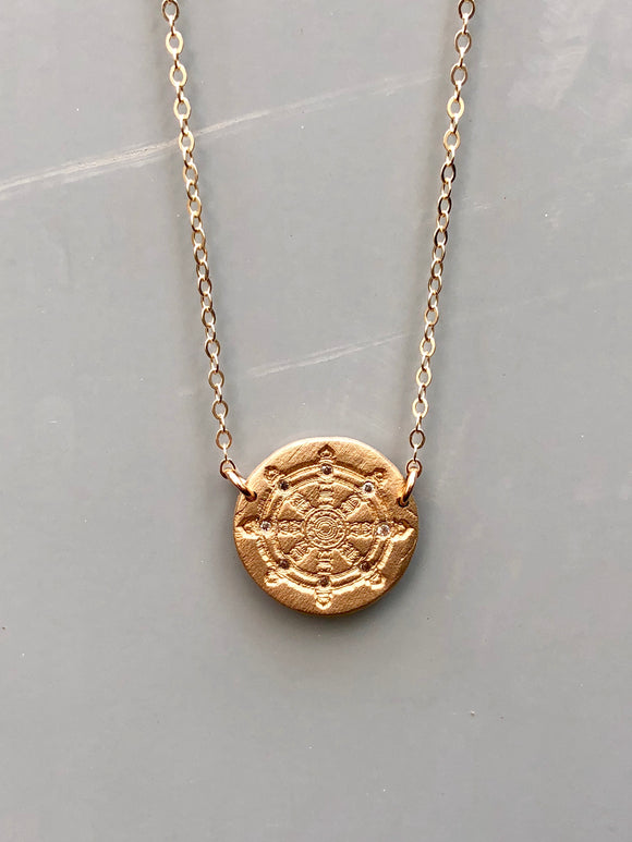 Dharma Wheel Necklace