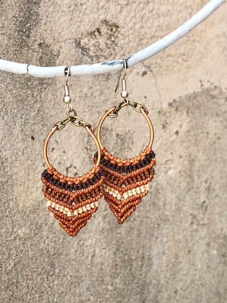 Goddess Hoop Earrings
