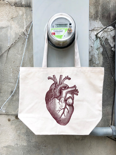 Anatomical Heart Tote