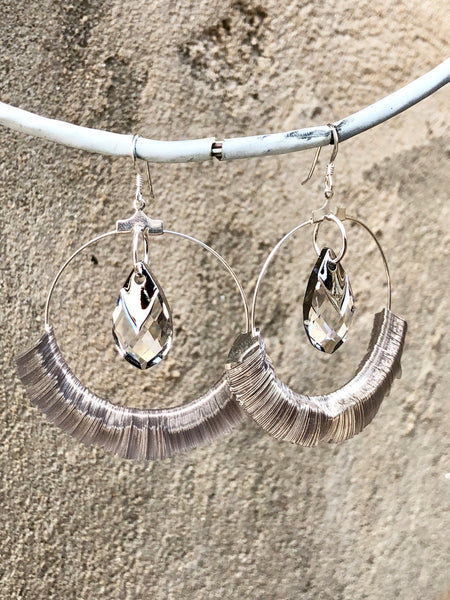 Silver Sequin Earrings