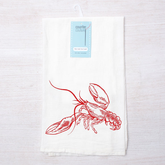 Lobster Flour Sack Tea Towel