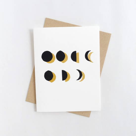 Moonphase Letterpress Card