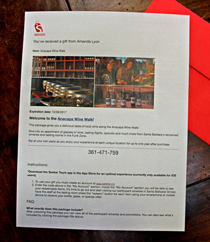 Seeker-Santa-Barbara-Self-Guided-Tours-Printed-Voucher