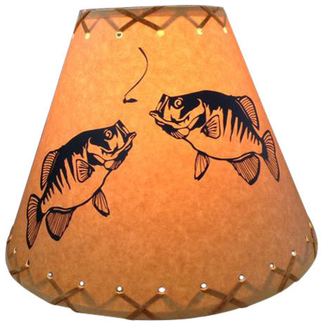 Double Crappie Lamp Shade