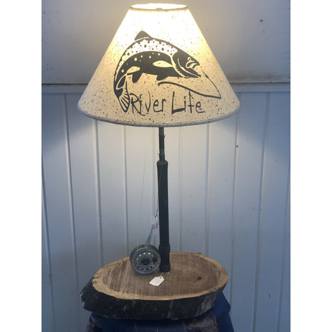 Fly Reel Table Lamp #1615