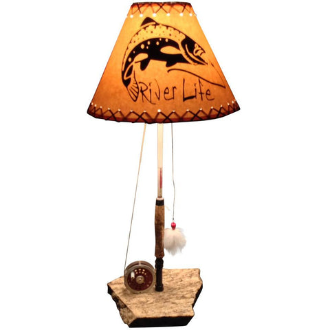 Fly Reel Table Lamp #1399