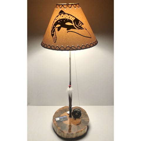 Fly Reel Table Lamp #1687