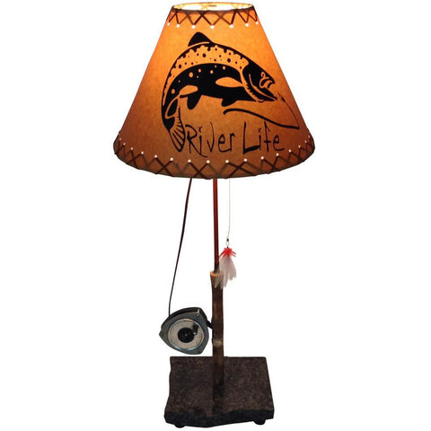 Fly Reel Table Lamp #1419