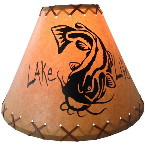 Lake Life Catfish Lamp Shade