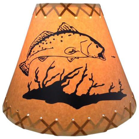 Feeding Trout Lamp Shade