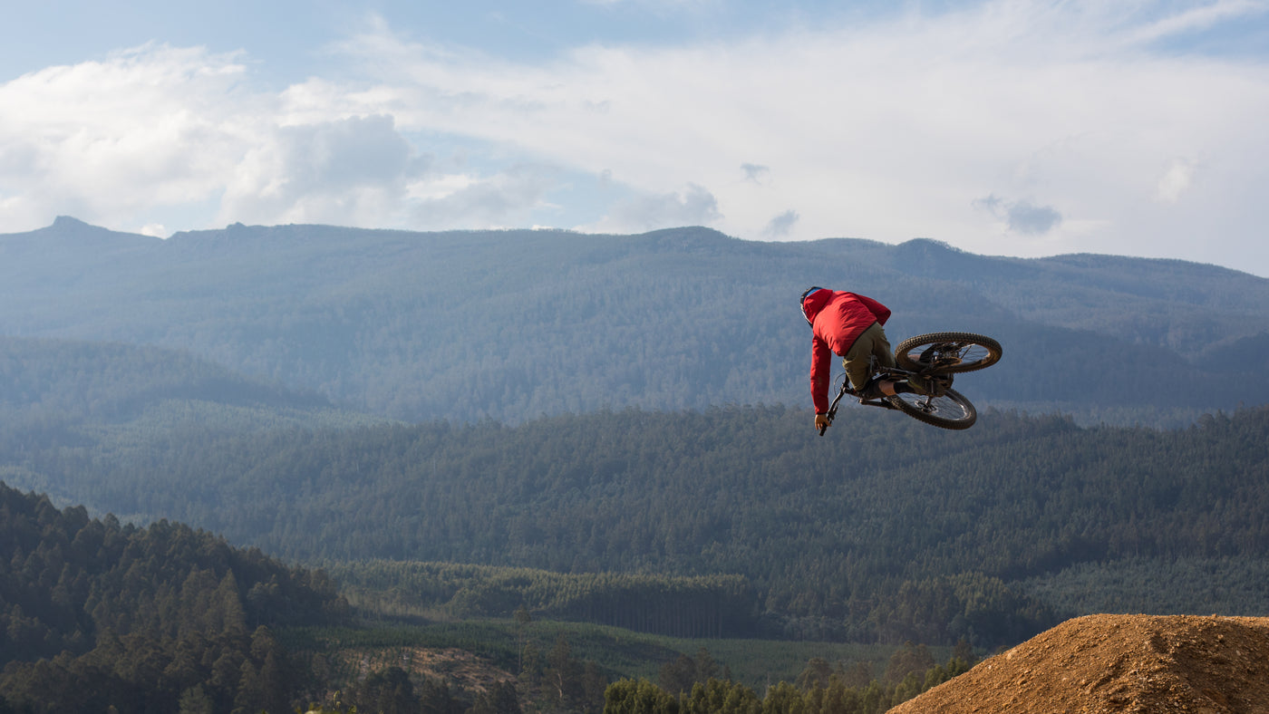 PNW Components Squad Member Mark Matthews Riding in Tasmania