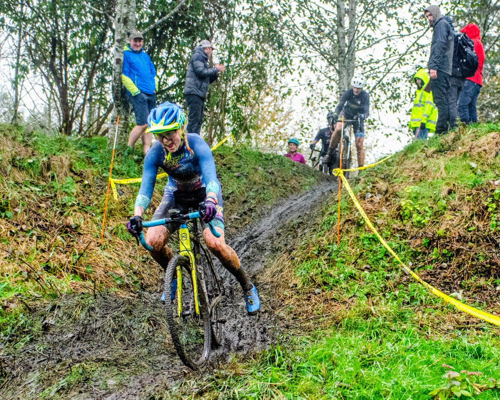 Delia Massey Testing Her PNW Components Bachelor Dropper Post On Her Cyclocross Bike. Photo by Paul Turner