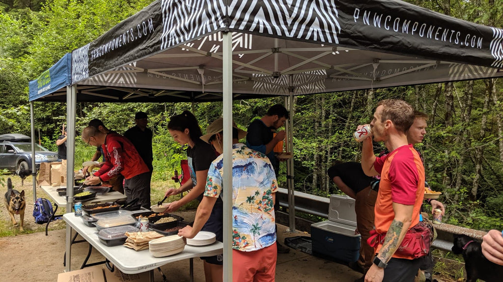 PNW Components Hosted a Dig Day with Evergreen Mountain Bike Alliance at Raging River