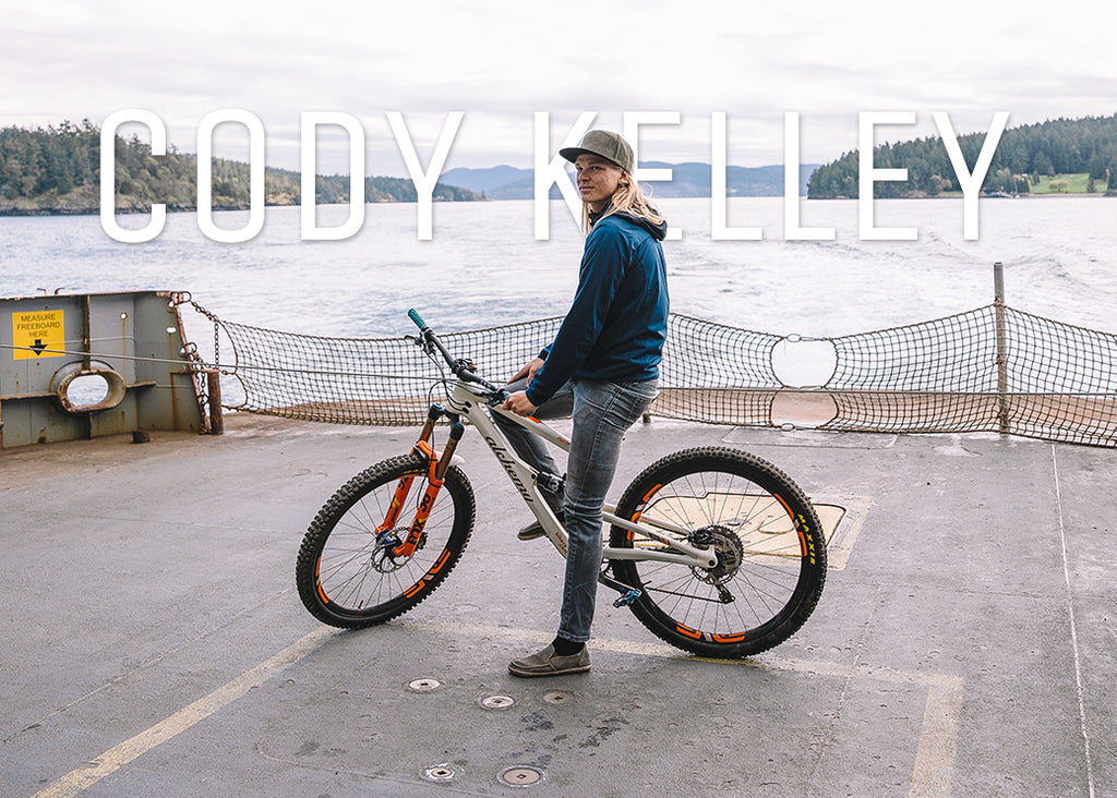 PNW Components Squad Cody Kelley on Ferry to Orcas Island