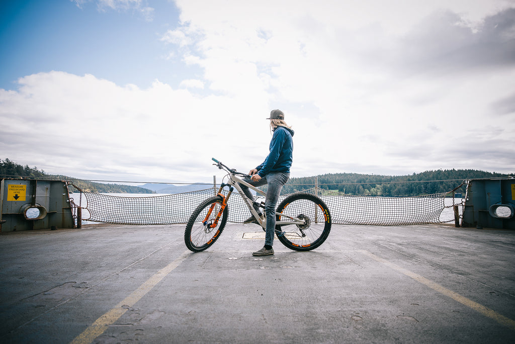 PNW Components Squad Member Cody Kelley on Ferry to Orcas Island