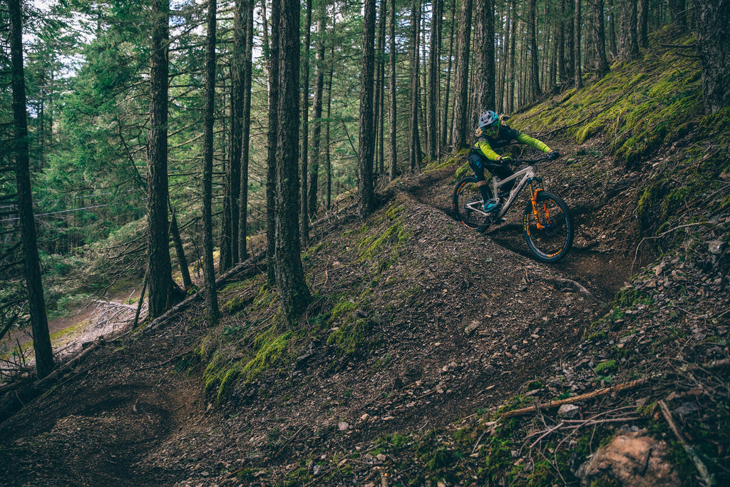 PNW Components Squad Member Cody Kelley Rides Mountain Bike Trails on Orcas Island