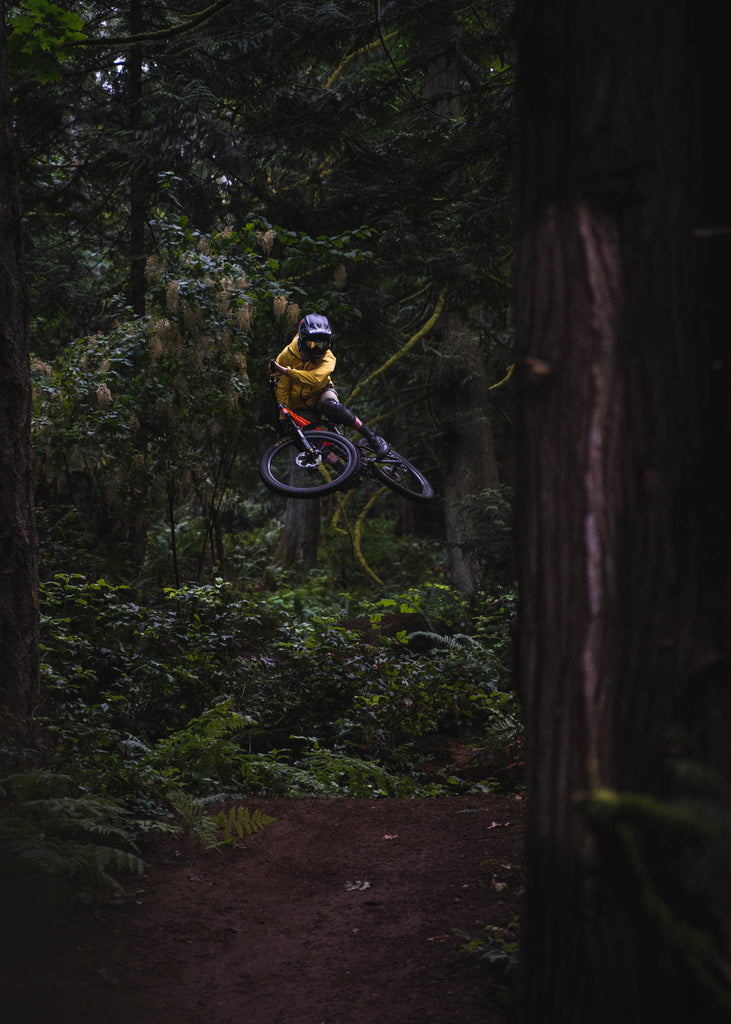 PNW Components Squad Member Mark Matthews Riding His Marin Hawk Hill in Hometown