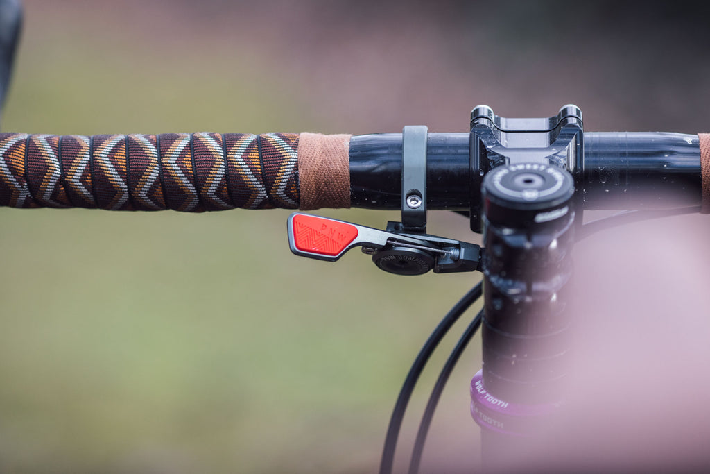 The PNW Components Coast Dropper Post reviewed by Bikepacking.com and paired with the Loam Lever