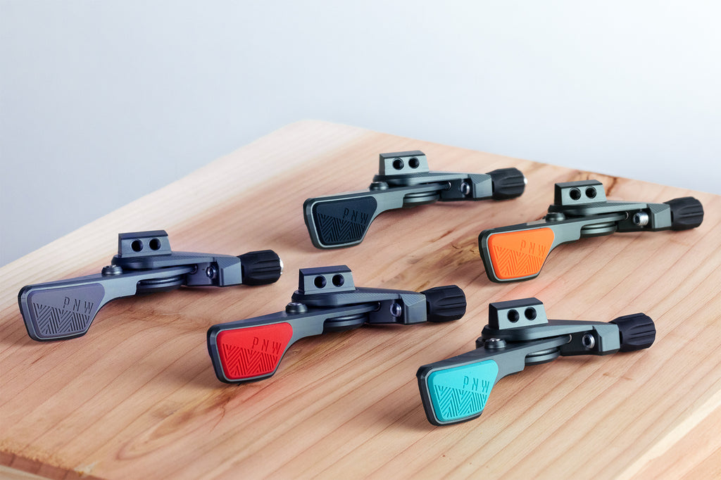 The PNW Components Loam Lever currently comes in five eye-catching colors.