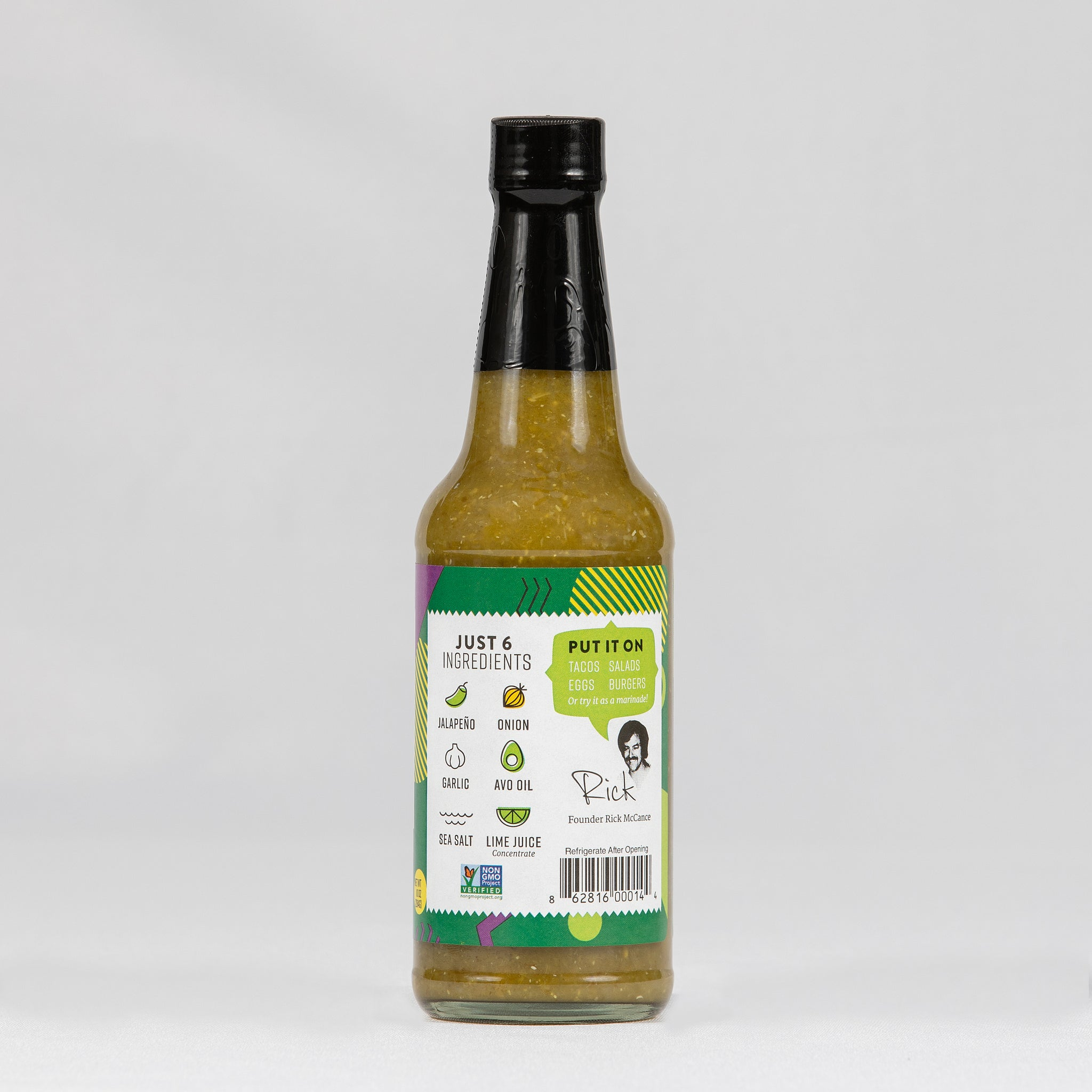 Rick's Avocado Sauce- Jalapeno Full Case (12 bottles)