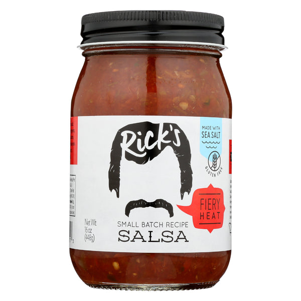 Rick's Fiery Heat Salsa Full Case (12 jars)