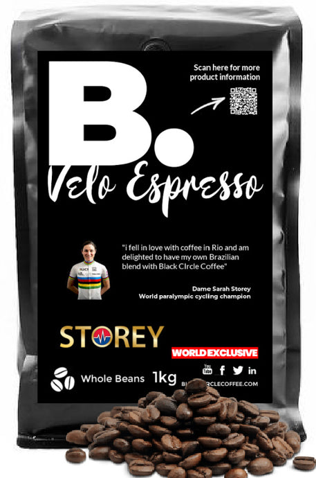 Dame Sarah Storey - Velo Espresso - Black Circle Coffee