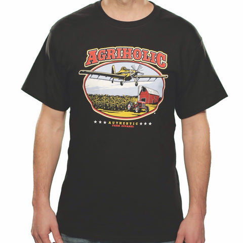 Crop Duster - Black T-Shirt