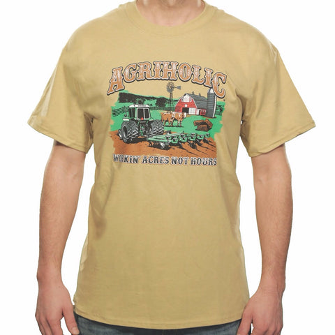 Workin' Acres Not Hours - Tan T-Shirt
