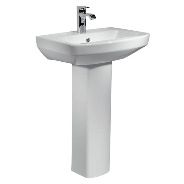 Aspect 550mm 1TH Basin & Pedestal