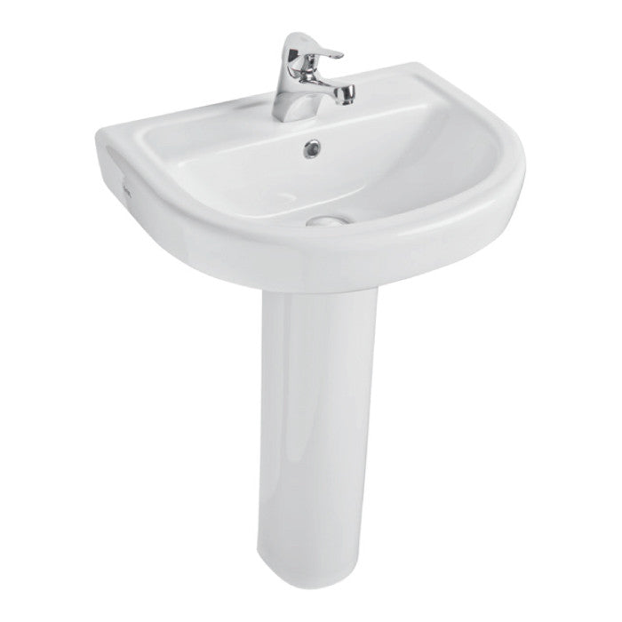 Ratio 550mm 1TH Basin & Pedestal