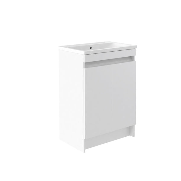 Ikon 600mm Floor Standing 2 Door Unit & Basin White