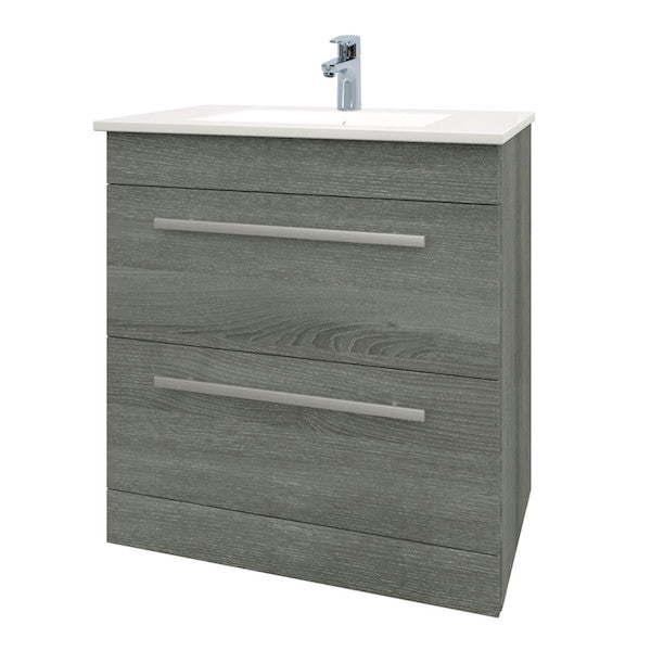 Purity 750mm Floor Standing Drawer Unit & Basin Grey Ash