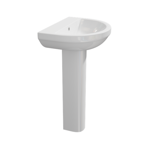 Code 550mm 1TH Basin & Pedestal
