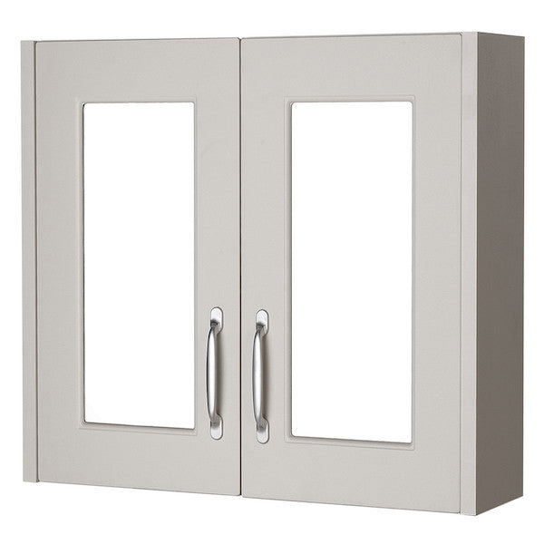 Astley 800mm Mirror Cabinet Stone Grey