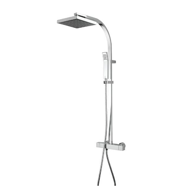 Hallin Thermostatic Square Bar Shower With Rigid Diverter To Handset