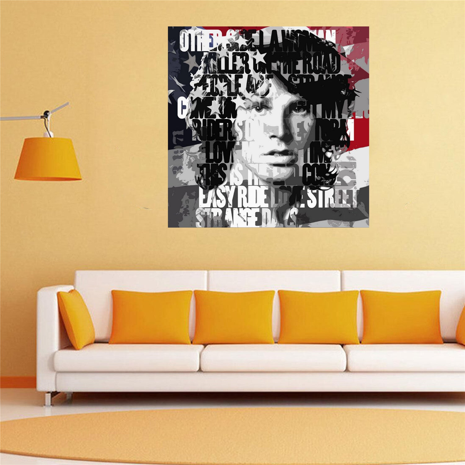 Modern Jim Morrison Wall Art Adornment - All About Wallart ...