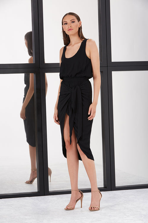 MABEL DRAPED DRESS